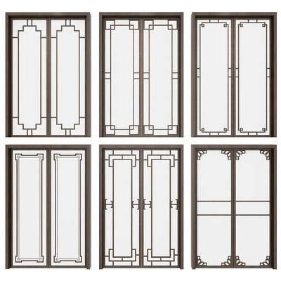 门, 门构件, 构件, 移门, 中式门, 新中式