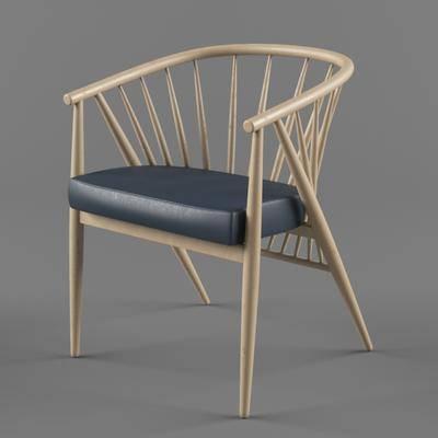 北欧实木椅, 木椅, 北欧, 椅子, 单椅