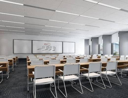 教室, 多功能会议室, 多媒体室, 桌椅, 椅子