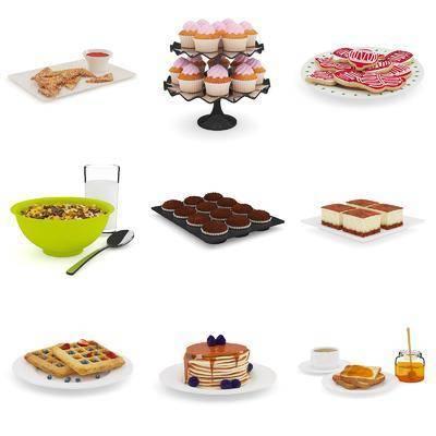 现代食物, 蛋糕, 饼干