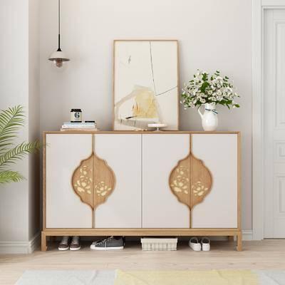 鞋柜, 现代实木鞋柜