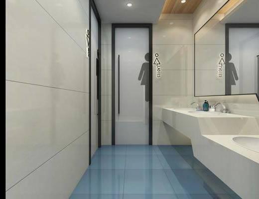 卫生间, 现代卫生间, 公共厕所, 洗手台, 男厕, 女厕, 现代