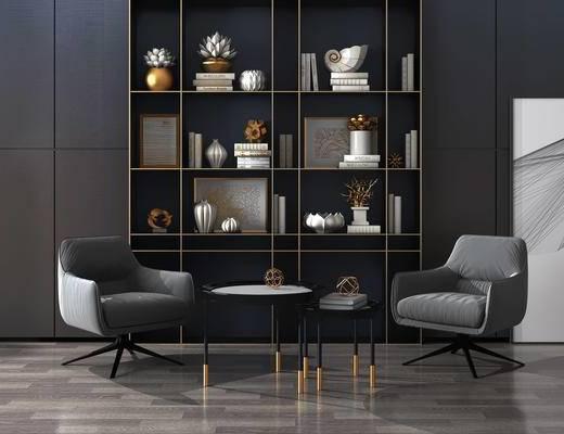 简欧沙发椅, 装饰柜