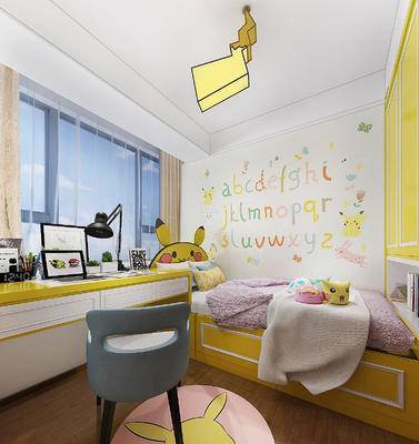 宠物小精灵, 黄色, 皮卡丘, 可爱, 主题房, 现代