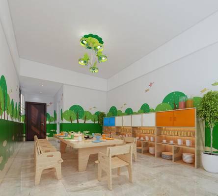 现代儿童用餐室, 儿童餐桌椅