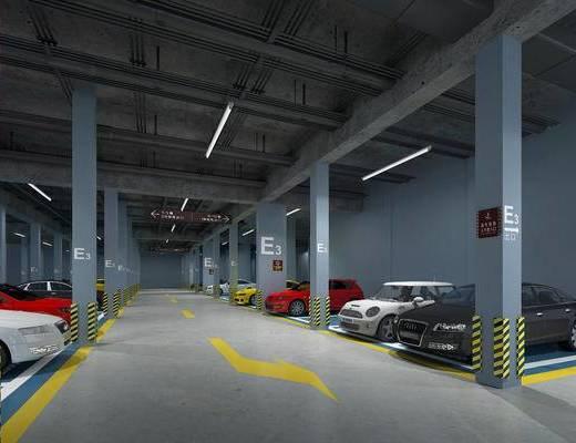 车库, 停车场