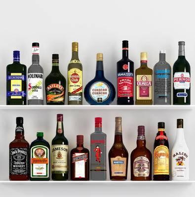 现代, 酒瓶, 摆件