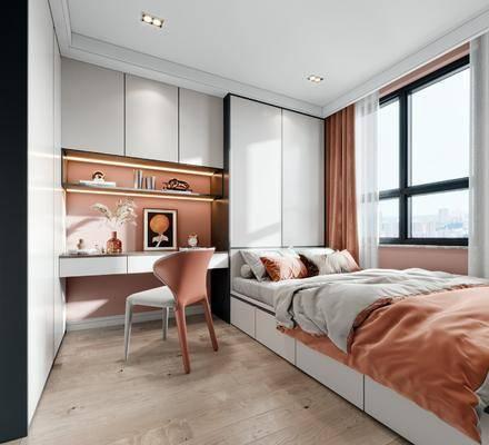现代, 榻榻米, 卧室, 书房, 家装