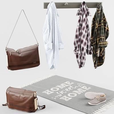 衣服, 挂钩, 鞋子, 包包