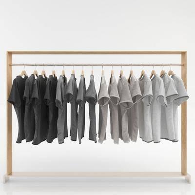 衣服, 衣架, 展架, 现代