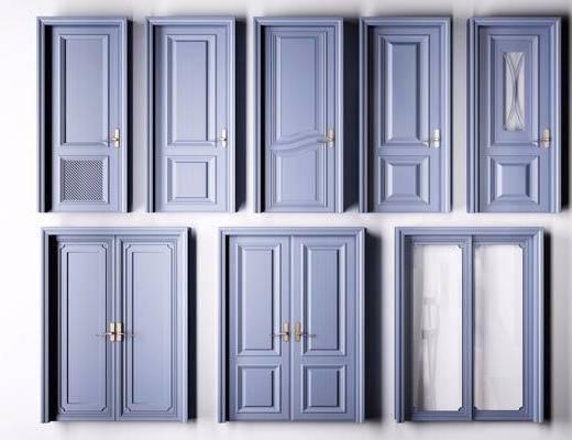 门, 房门, 现代, 平开门