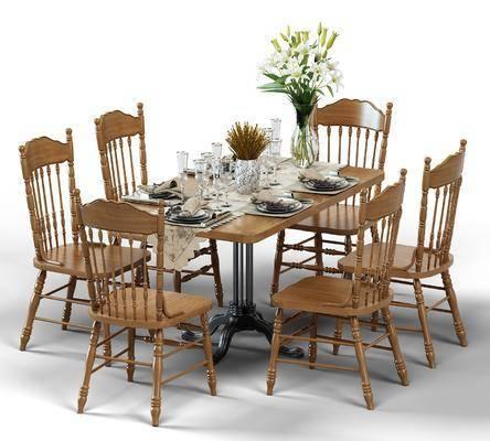 餐桌椅組合, 餐具組合, 地中海