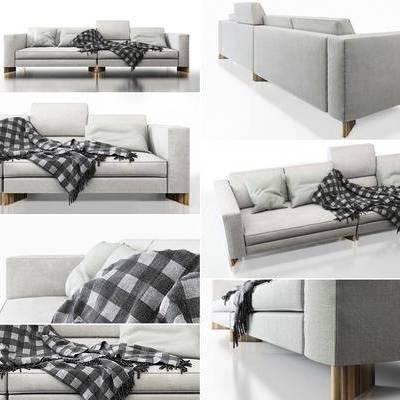 多人沙发, 双人沙发, 布艺沙发, 现代