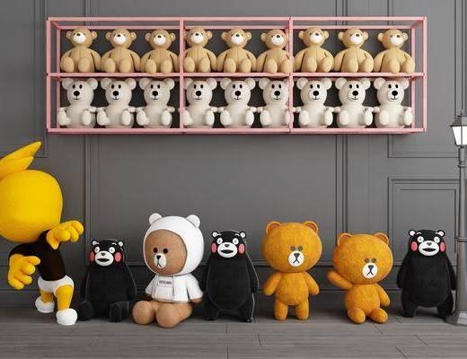玩具, 玩偶, 摆件组合