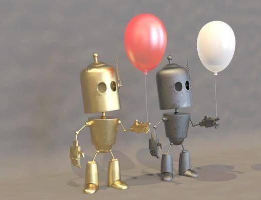 现代, 摆件, 机器人