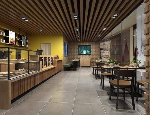 现代咖啡厅, 咖啡厅, 蛋糕店
