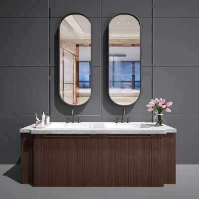 中式洗手台, 中式洗面盆, 中式洗脸台, 中式卫浴柜, 洗手台, 现代, 中式, 新中式