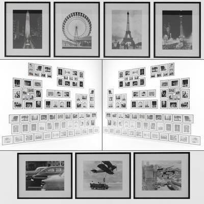 装饰画, 挂画, 现代, 照片墙