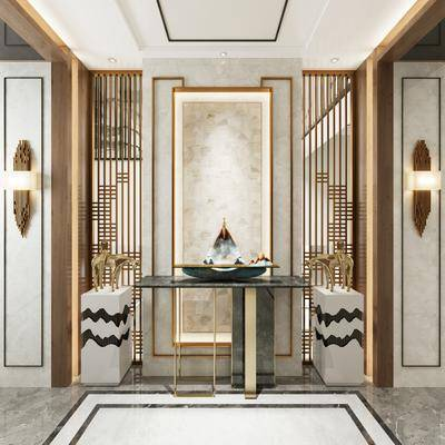 新中式, 玄关, 走廊