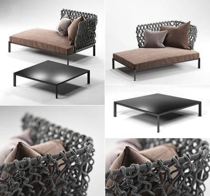 贵妃椅, 休闲椅, 茶几, 组合, 现代椅, 现代