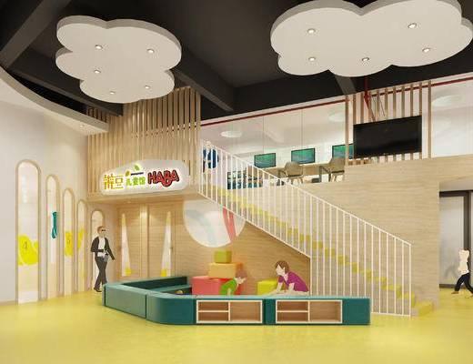 儿童床, 幼儿园, 大厅
