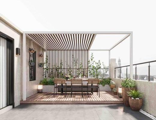 家装, 现代露天阳台