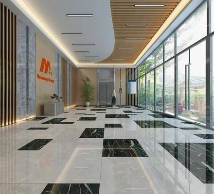 花園電梯, 走廊過道, 現代