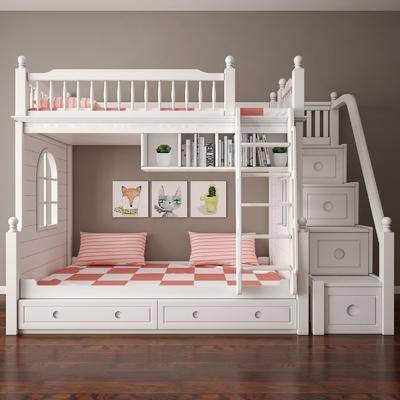 上下床, 双层床, 儿童床, 现代, 简欧, 田园