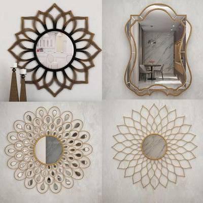 墙饰, 太阳镜, 镜子, 后现代, 现代