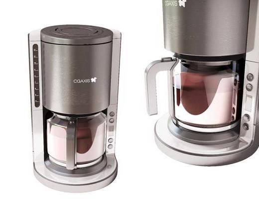 现代, 咖啡机, 摆件