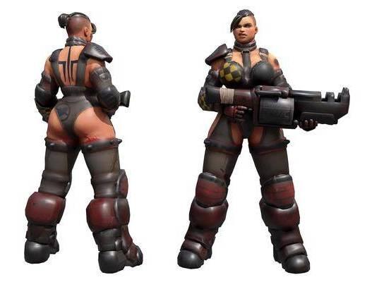 现代游戏角色女战士