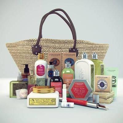 化妆品, 现代化妆品组合, 现代, 手提袋, 香水