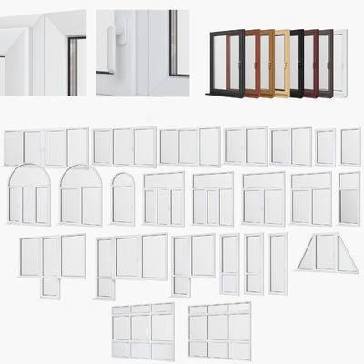 实木, 窗户, 圆弧, 窗