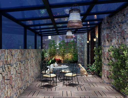 现代阳台, 阳台, 露台