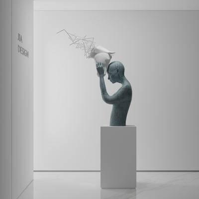 雕塑, 摆件组合