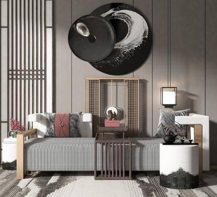 贵妃椅, 吊灯, 墙饰