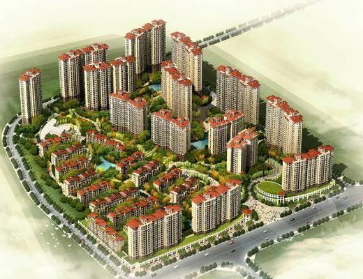 住宅区, 楼盘, 建筑