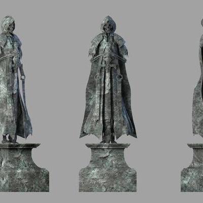 骷髅雕像, 工业风