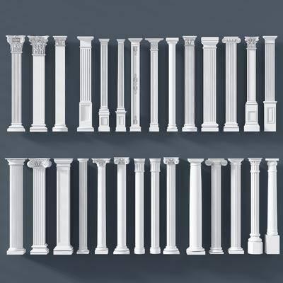 欧式罗马柱, 欧式, 罗马柱, 柱子