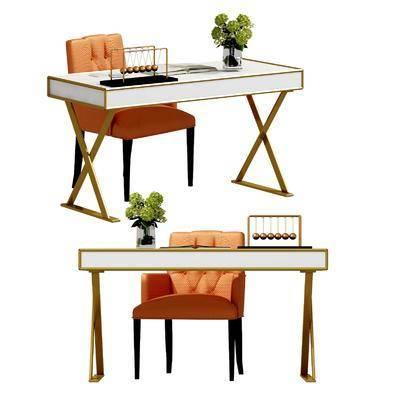 书桌, 花瓶, 书籍, 现代