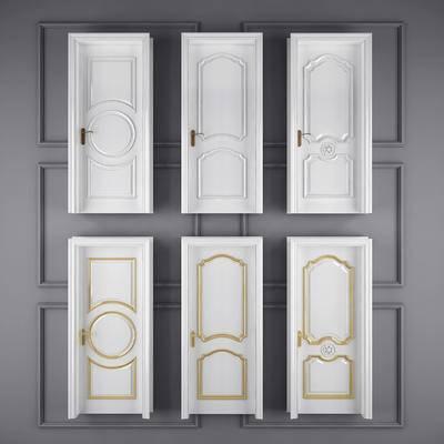 欧式, 房门, 单开门, 门窗