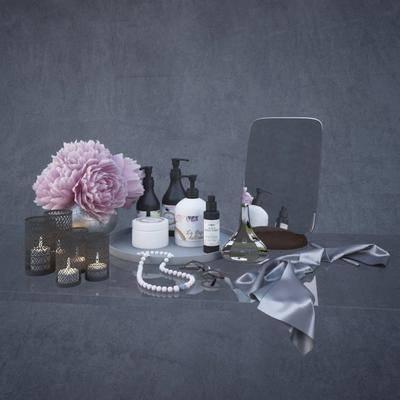 香水, 花瓶, 玻璃, 项链, 眼镜, 现代