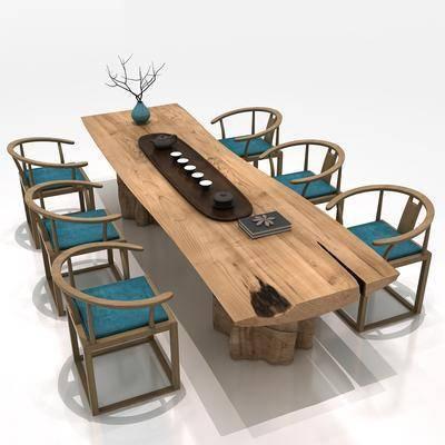 根雕茶桌, 茶桌, 实木茶桌, 茶桌组合