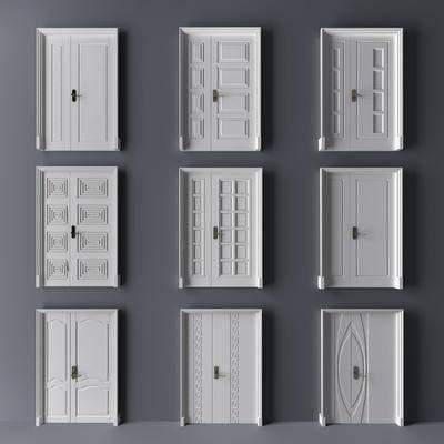 现代, 门窗, 双开门, 子母门