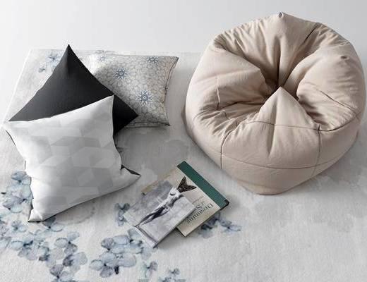地毯, 懒人沙发, 抱枕