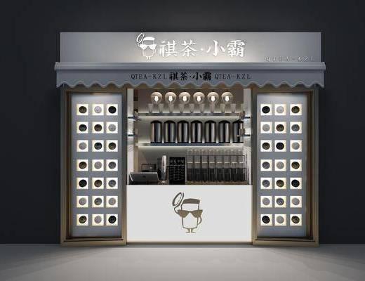 奶茶店, 前台, 摆件, 装饰品, 陈设品, 现代