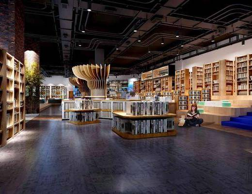 新中式圖書館, 學校, 書吧