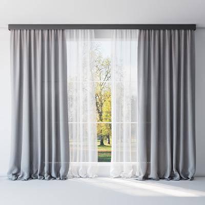 窗帘, 布艺, 简洁, 现代