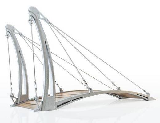 现代风格吊桥