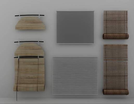 窗帘, 办公室窗帘, 工业风窗帘, 竹编窗帘, 编藤窗帘, 个性窗帘